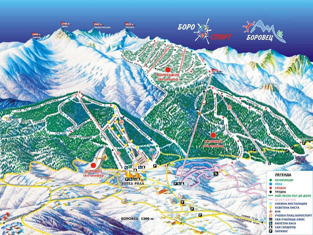 borovec ski staza mapa